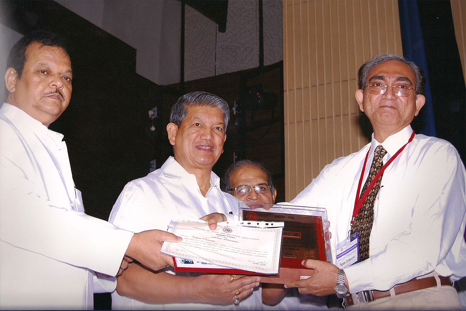 Mr. Tapas Chatterjee received Udyog Patra Award